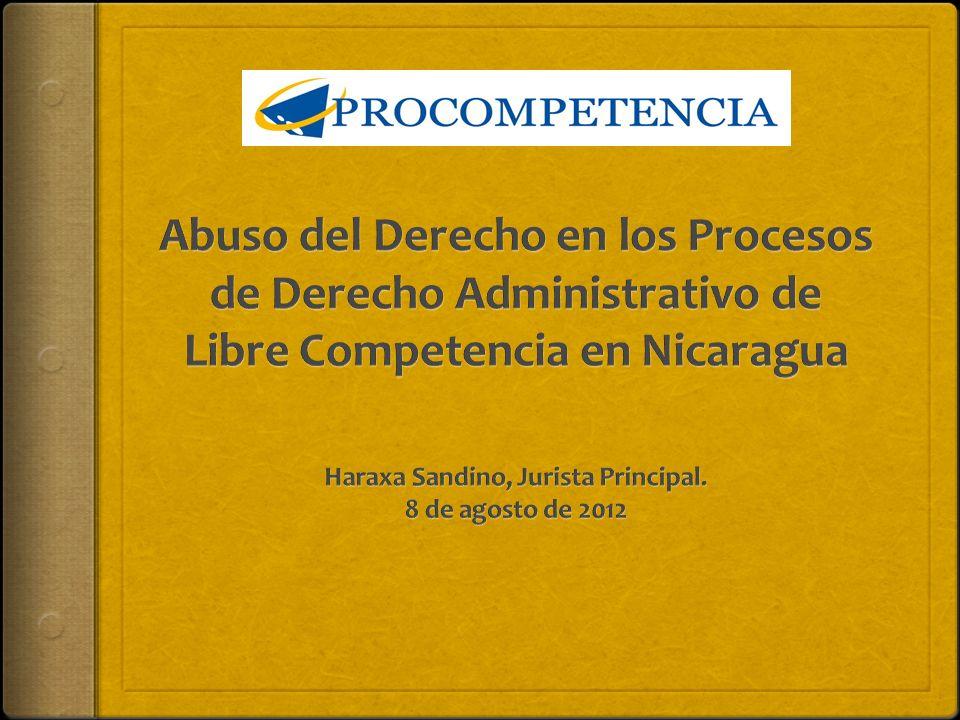 NORMATIVA LEY 601 Ley de Promoción de la Competencia y sus reformas Ley 668 y Ley 773.
