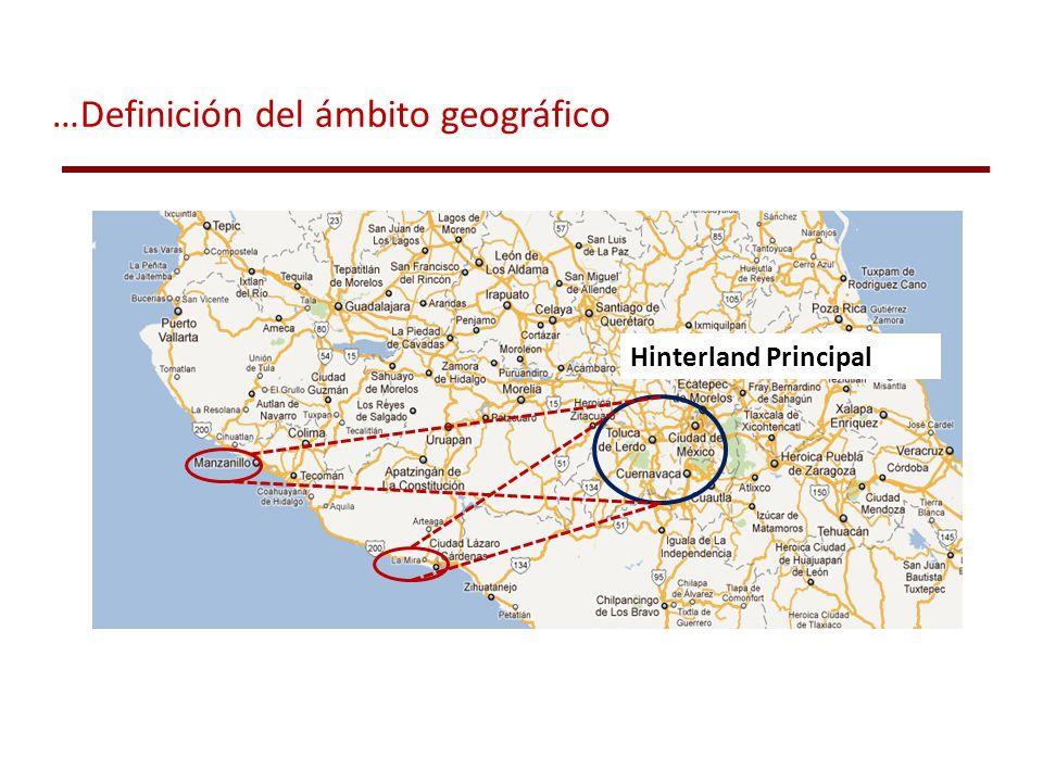 Hinterland Principal …Definición del ámbito geográfico