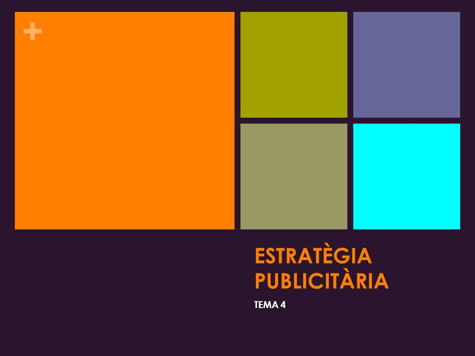 + ESTRATÈGIA PUBLICITÀRIA TEMA 4