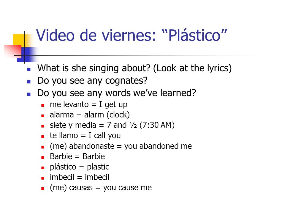 Video de viernes: Plástico What is she singing about.