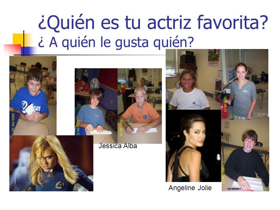 ¿Quién es tu actriz favorita? ¿ A quién le gusta quién? Jessica Alba Angeline Jolie