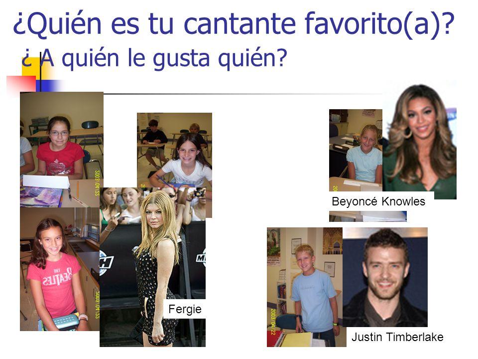 ¿Quién es tu cantante favorito(a). ¿ A quién le gusta quién.