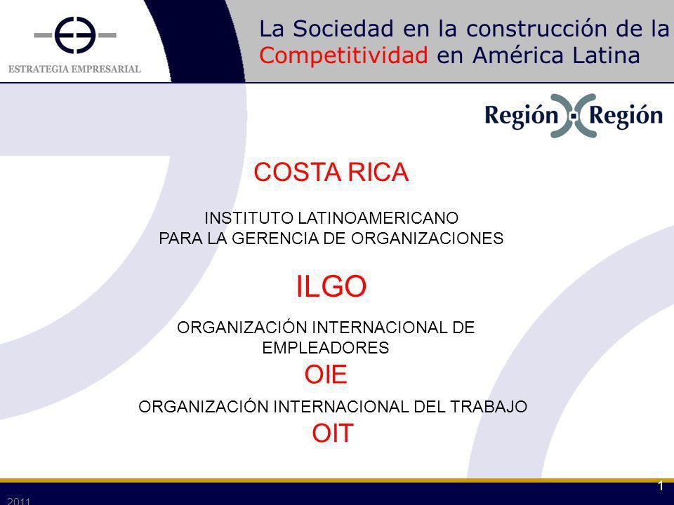 La Sociedad en la construcción de la Competitividad en América Latina 2011 1 COSTA RICA INSTITUTO LATINOAMERICANO PARA LA GERENCIA DE ORGANIZACIONES I