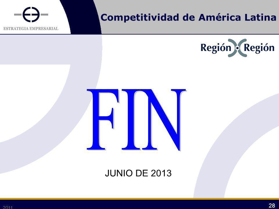Competitividad de América Latina 2011 28 JUNIO DE 2013