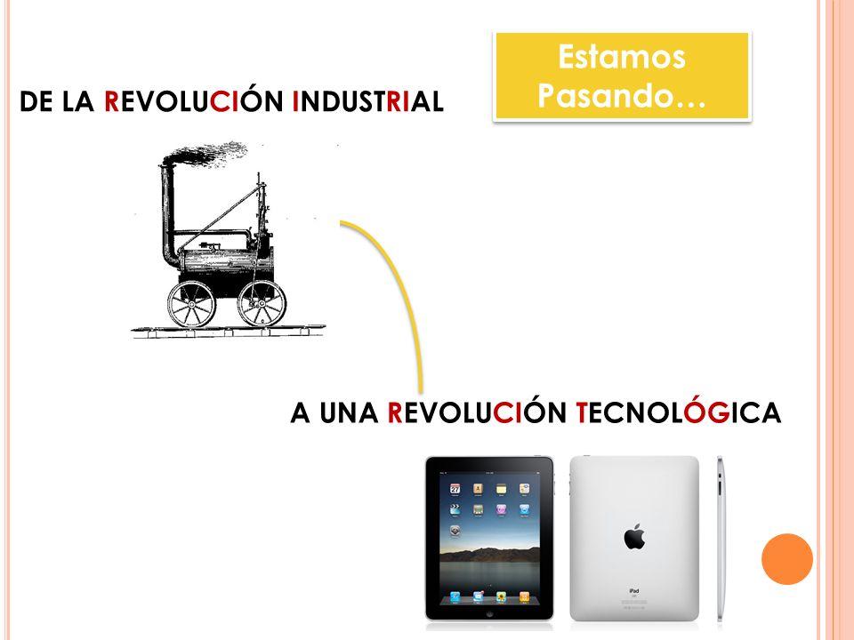 DE LA REVOLUCIÓN INDUSTRIAL A UNA REVOLUCIÓN TECNOLÓGICA Estamos Pasando…