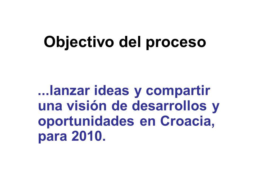 ...lanzar ideas y compartir una visión de desarrollos y oportunidades en Croacia, para 2010. Objectivo del proceso