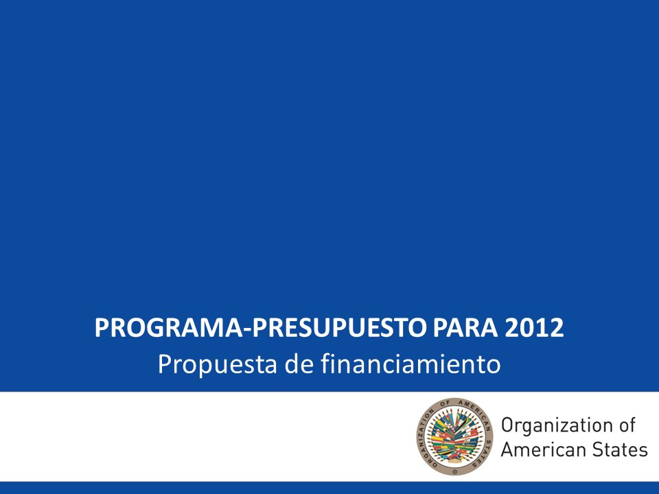22 Propósito Aportar algunas ideas a las pláticas de los Estados Miembros sobre dos temas relacionados particularmente con el programa-presupuesto del Fondo Regular para 2012: El nivel global presupuestario y Las cuotas para financiar el presupuesto del Fondo Regular para 2012