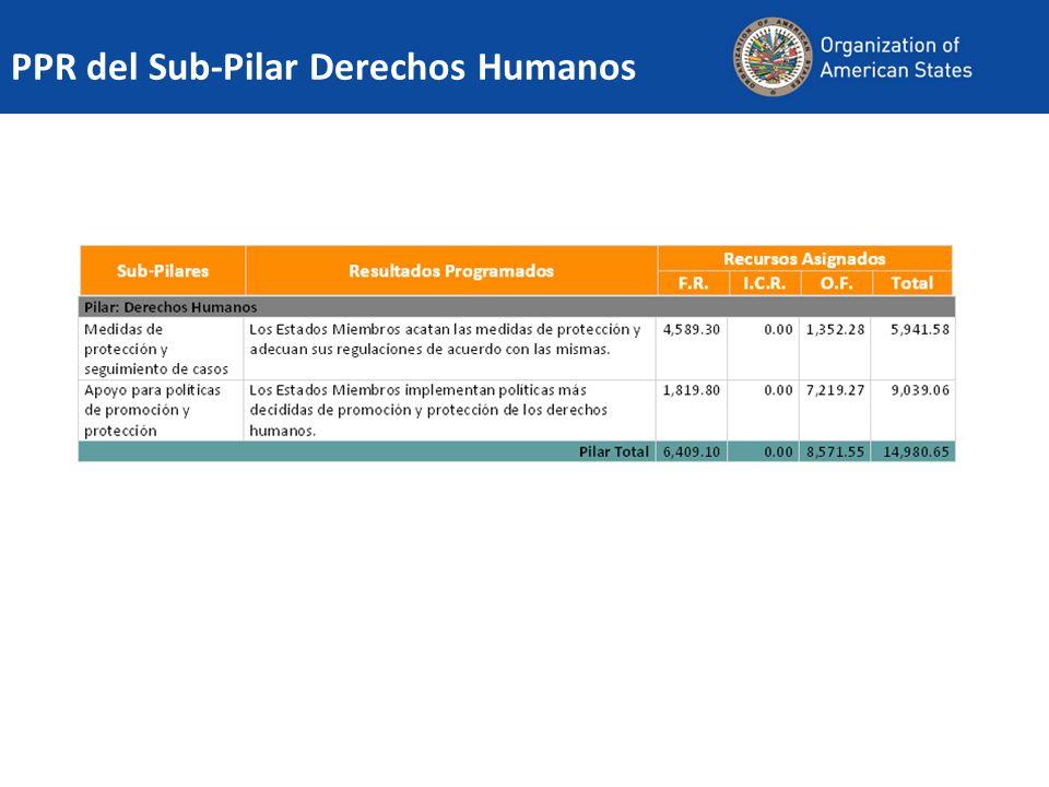 PPR del Sub-Pilar Derechos Humanos