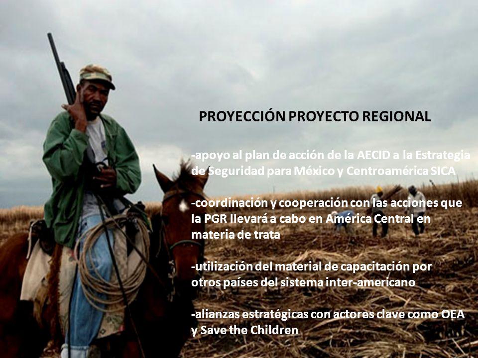 -apoyo al plan de acción de la AECID a la Estrategia de Seguridad para México y Centroamérica SICA -coordinación y cooperación con las acciones que la