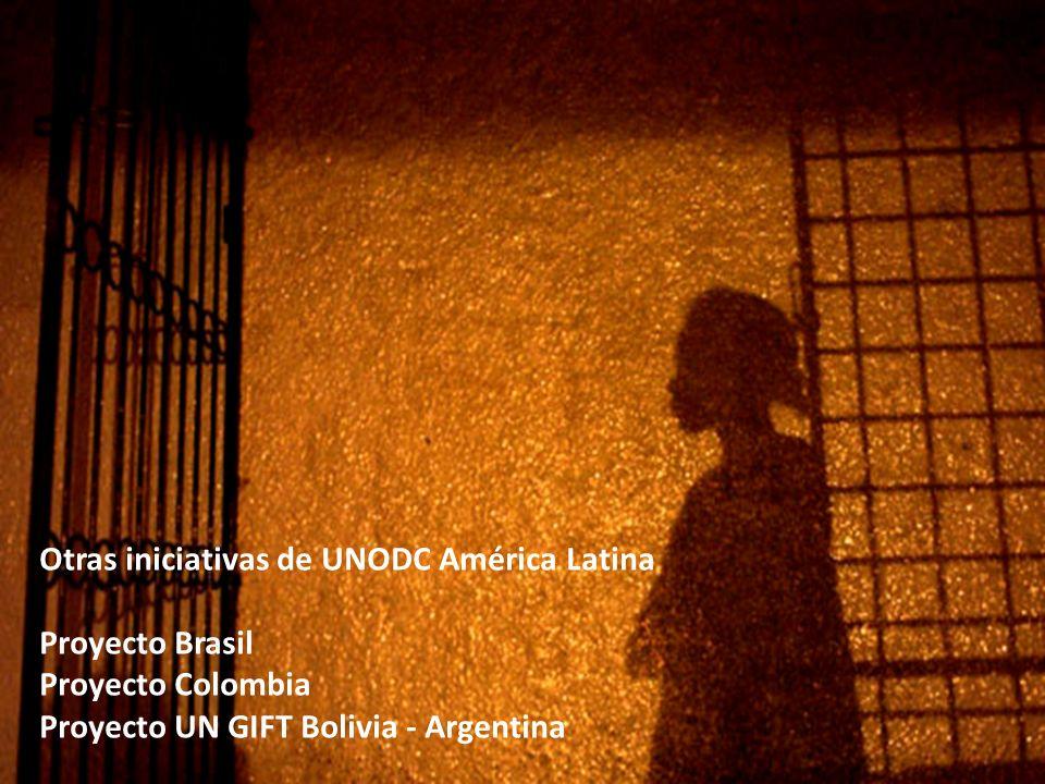 Otras iniciativas de UNODC América Latina Proyecto Brasil Proyecto Colombia Proyecto UN GIFT Bolivia - Argentina