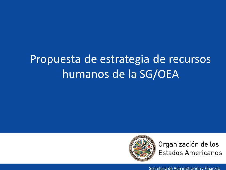 1 Propuesta de estrategia de recursos humanos de la SG/OEA Secretaría de Administración y Finanzas