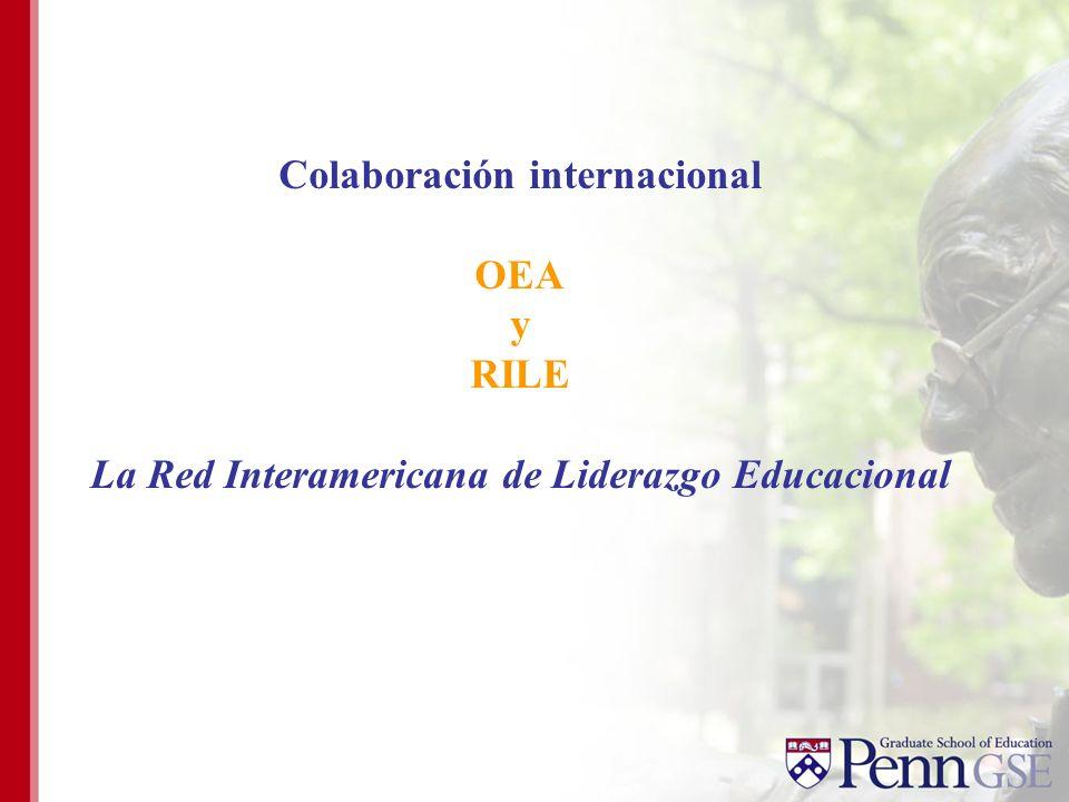 Colaboración internacional OEA y RILE La Red Interamericana de Liderazgo Educacional
