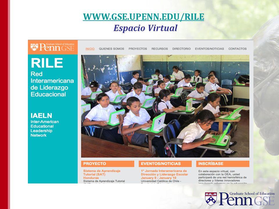 WWW.GSE.UPENN.EDU/RILE Espacio Virtual