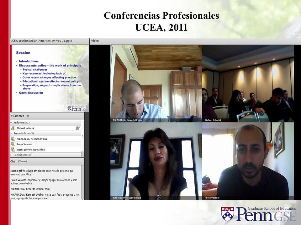 Conferencias Profesionales UCEA, 2011