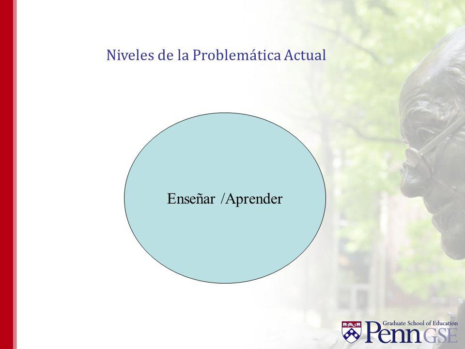 Enseñar /Aprender Niveles de la Problemática Actual