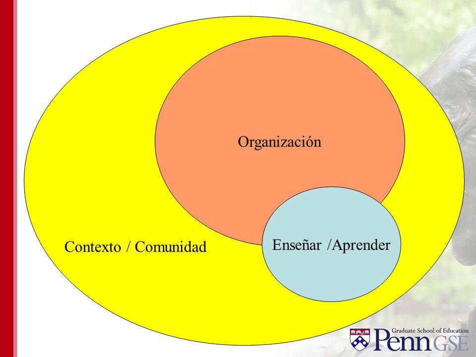 Organización Contexto / Comunidad Enseñar /Aprender