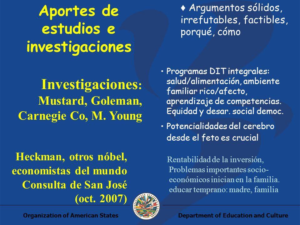 Department of Education and CultureOrganization of American States EVALUACIÓN, MONITOREO Y SEGUIMIENTO Estado del arte: a.