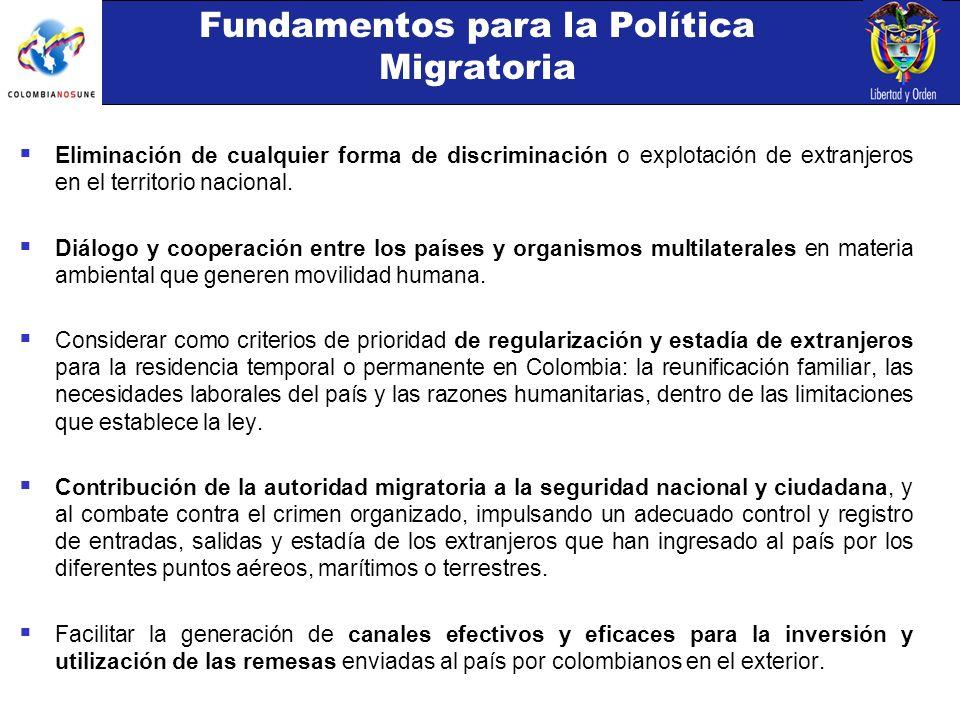 Eliminación de cualquier forma de discriminación o explotación de extranjeros en el territorio nacional.