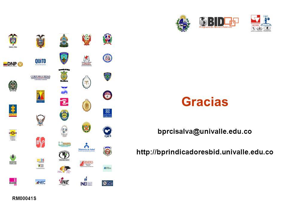 Gracias bprcisalva@univalle.edu.co http://bprindicadoresbid.univalle.edu.co RM00041S