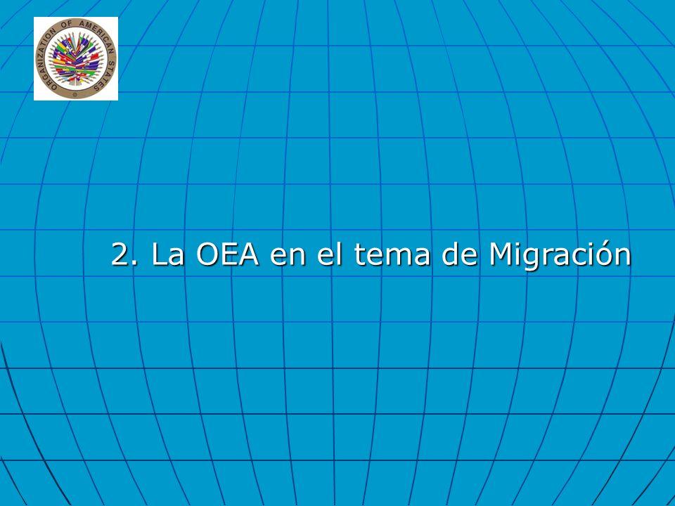 2. La OEA en el tema de Migración
