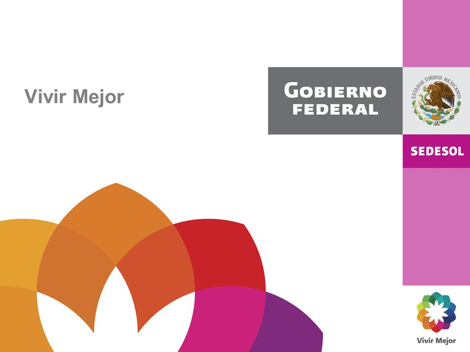 Con el fin de alcanzar las metas establecidas en el Plan Nacional de Desarrollo, los Programas Sectoriales y Especiales correspondientes, así como las metas planteadas en los Objetivos del Milenio del PNUD, se ha alineado la estrategia Vivir Mejor: Plan Nacional de Desarrollo Programas Sectoriales: Desarrollo Social Educación Medio Ambiente Salud Desarrollo Rural Objetivos del Milenio Programas Especiales y otros Participación social Evaluación de la política social Transparencia y rendición de cuentas Coordinación entre órdenes de gobierno Coordinación y convergencia intersectorial Visión prospectiva Visión territorial Sustentabilidad ambiental