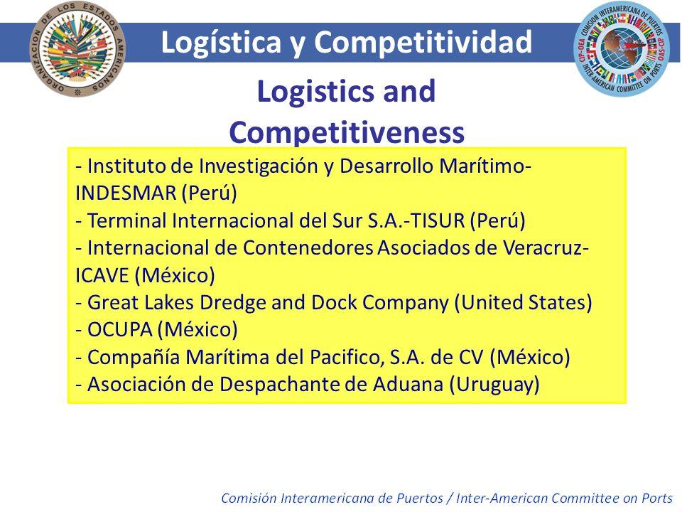 Logística y Competitividad Logistics and Competitiveness - Instituto de Investigación y Desarrollo Marítimo- INDESMAR (Perú) - Terminal Internacional