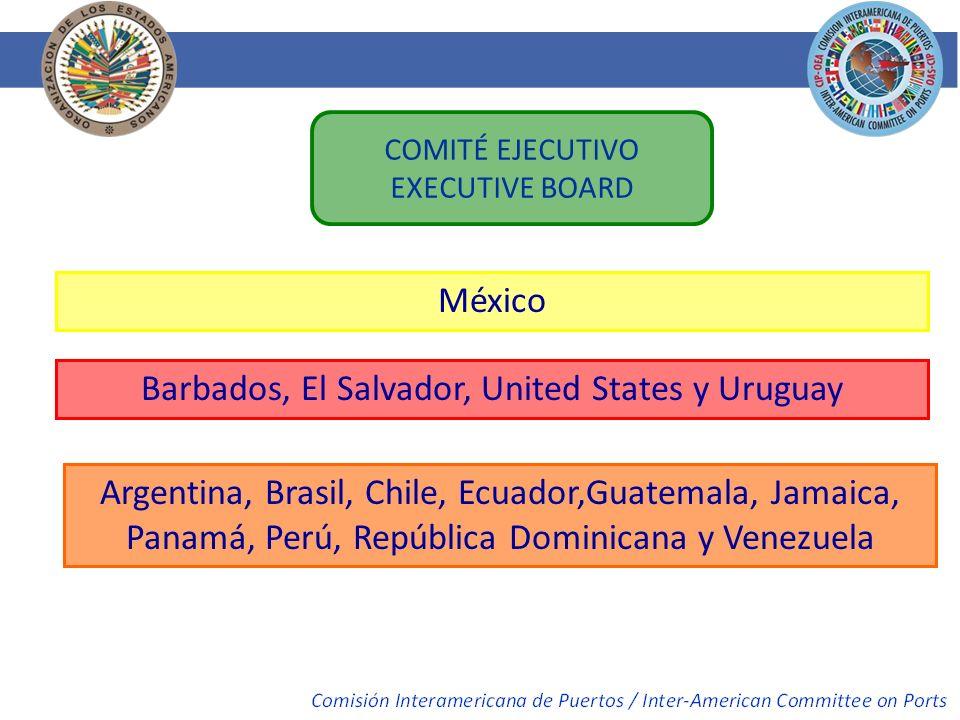 COMITÉ EJECUTIVO EXECUTIVE BOARD México Barbados, El Salvador, United States y Uruguay Argentina, Brasil, Chile, Ecuador,Guatemala, Jamaica, Panamá, P