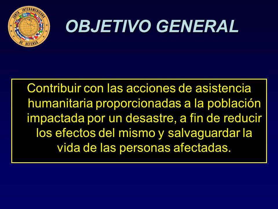 Desarrollar una concepción estratégica que permita presentar una respuesta militar efectiva en apoyo a las autoridades civiles en caso de desastre.
