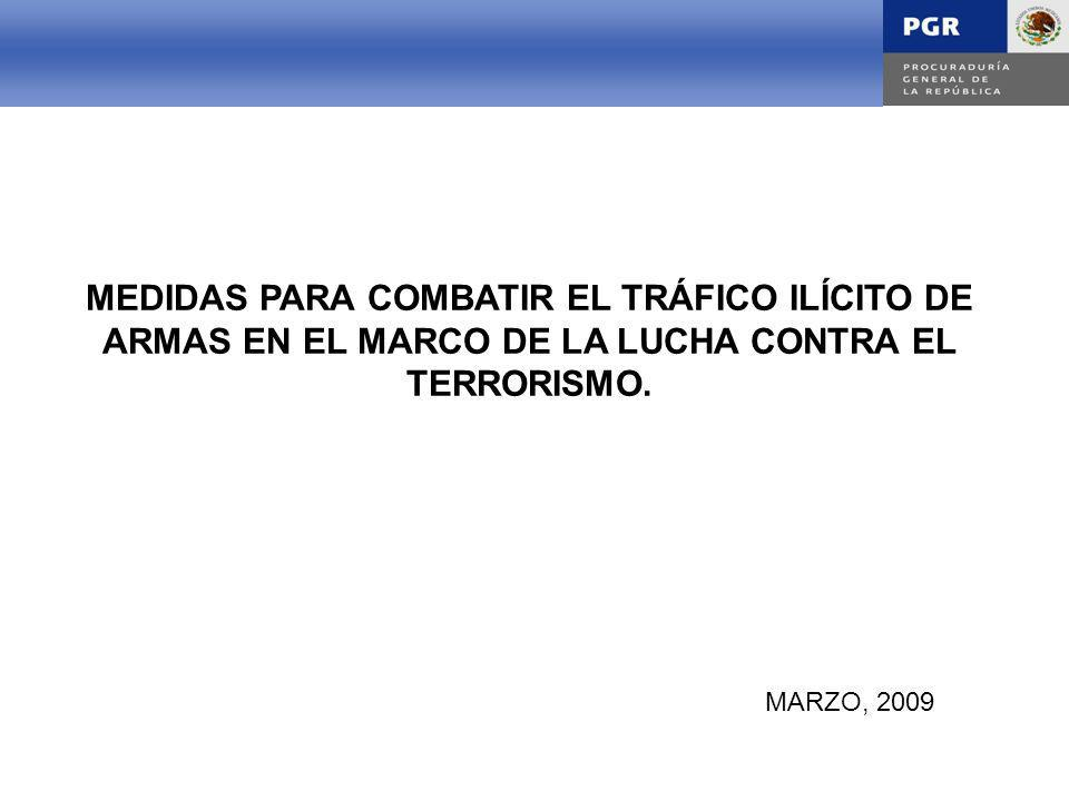 INTRODUCCIÓN MEDIDAS PARA COMBATIR EL TRÁFICO ILÍCITO DE ARMAS EN EL MARCO DE LA LUCHA CONTRA EL TERRORISMO.