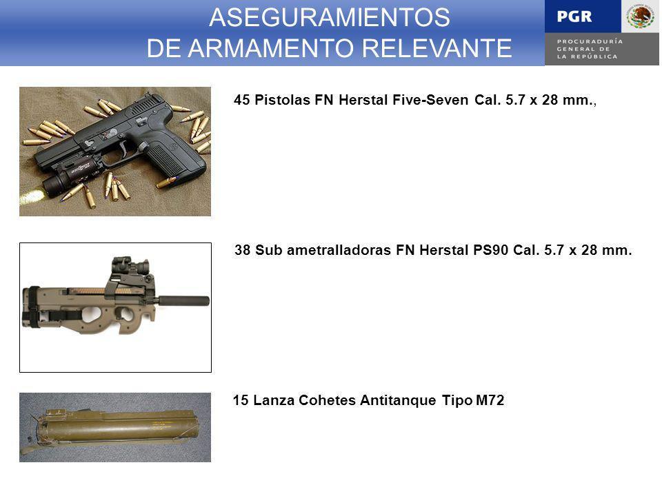 ASEGURAMIENTOS DE ARMAMENTO RELEVANTE 45 Pistolas FN Herstal Five-Seven Cal.