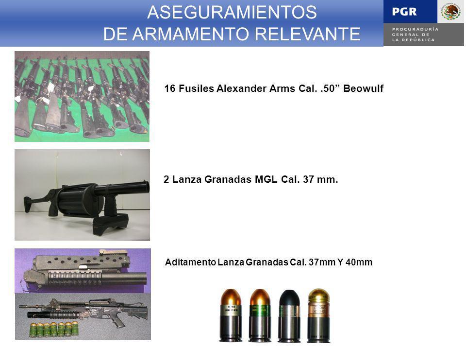 ASEGURAMIENTOS DE ARMAMENTO RELEVANTE 2 Lanza Granadas MGL Cal.