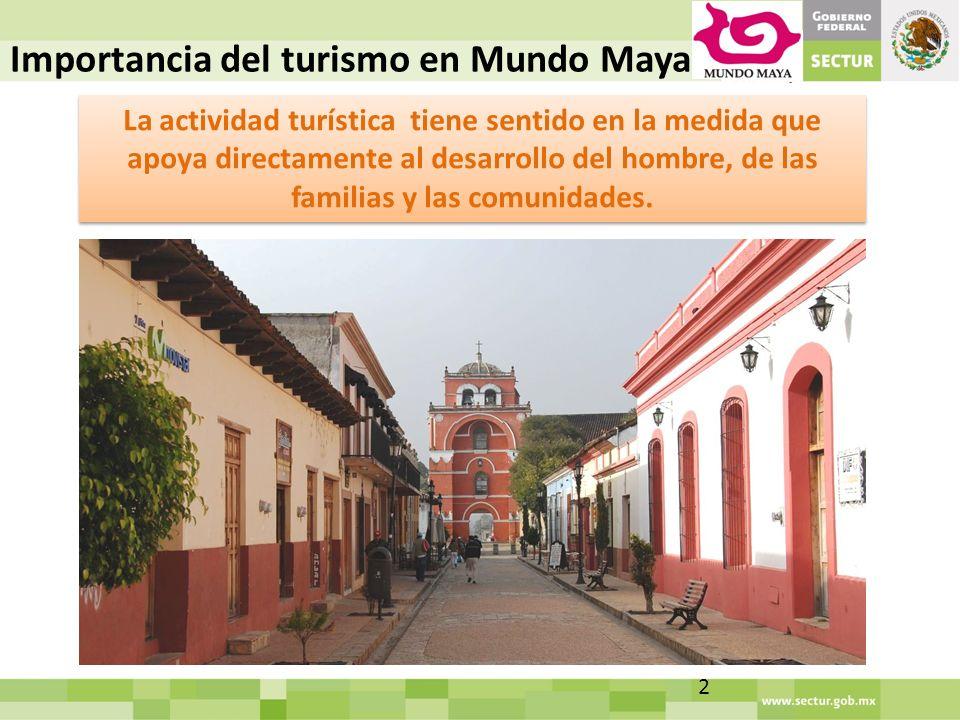 La actividad turística tiene sentido en la medida que apoya directamente al desarrollo del hombre, de las familias y las comunidades.