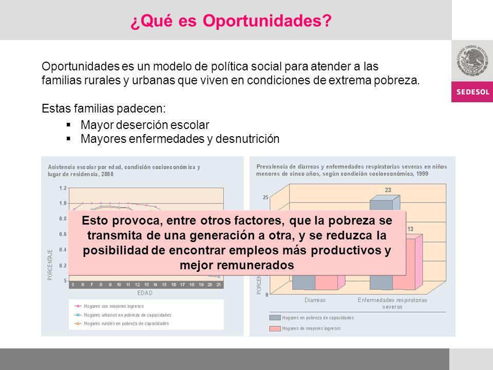 Oportunidades es el principal programa social del Gobierno de México.