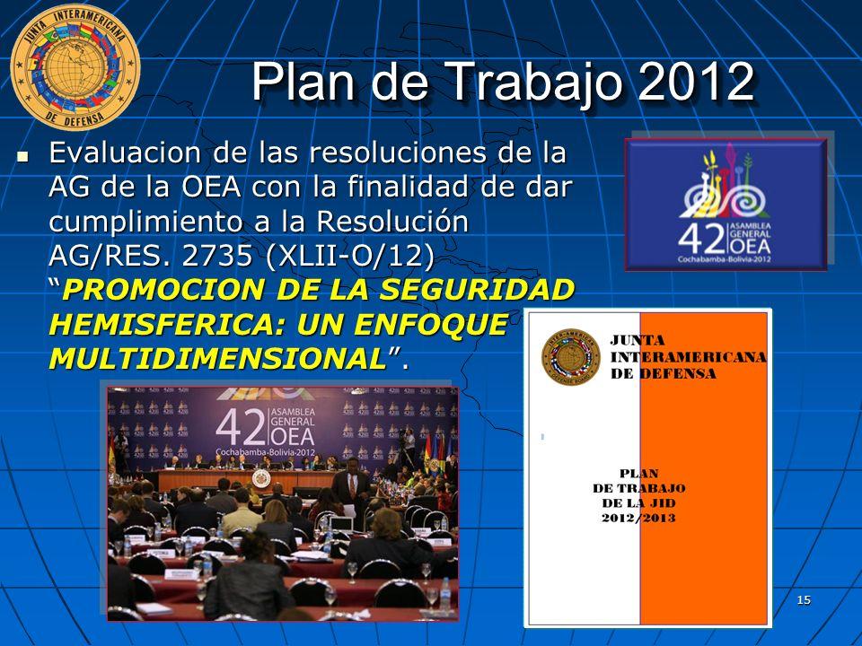 Plan de Trabajo 2012 Evaluacion de las resoluciones de la AG de la OEA con la finalidad de dar cumplimiento a la Resolución AG/RES. 2735 (XLII-O/12)PR