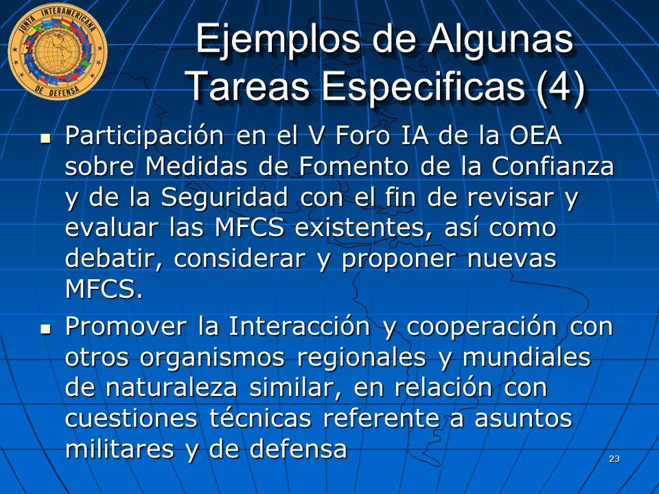 Participación en el V Foro IA de la OEA sobre Medidas de Fomento de la Confianza y de la Seguridad con el fin de revisar y evaluar las MFCS existentes