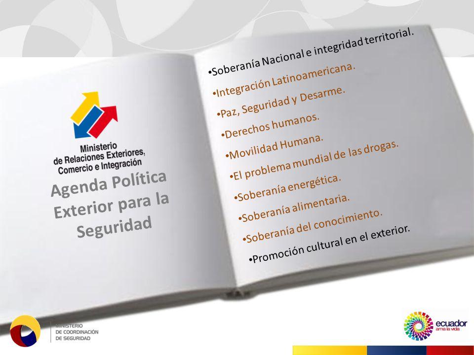 Soberanía Nacional e integridad territorial. Integración Latinoamericana.