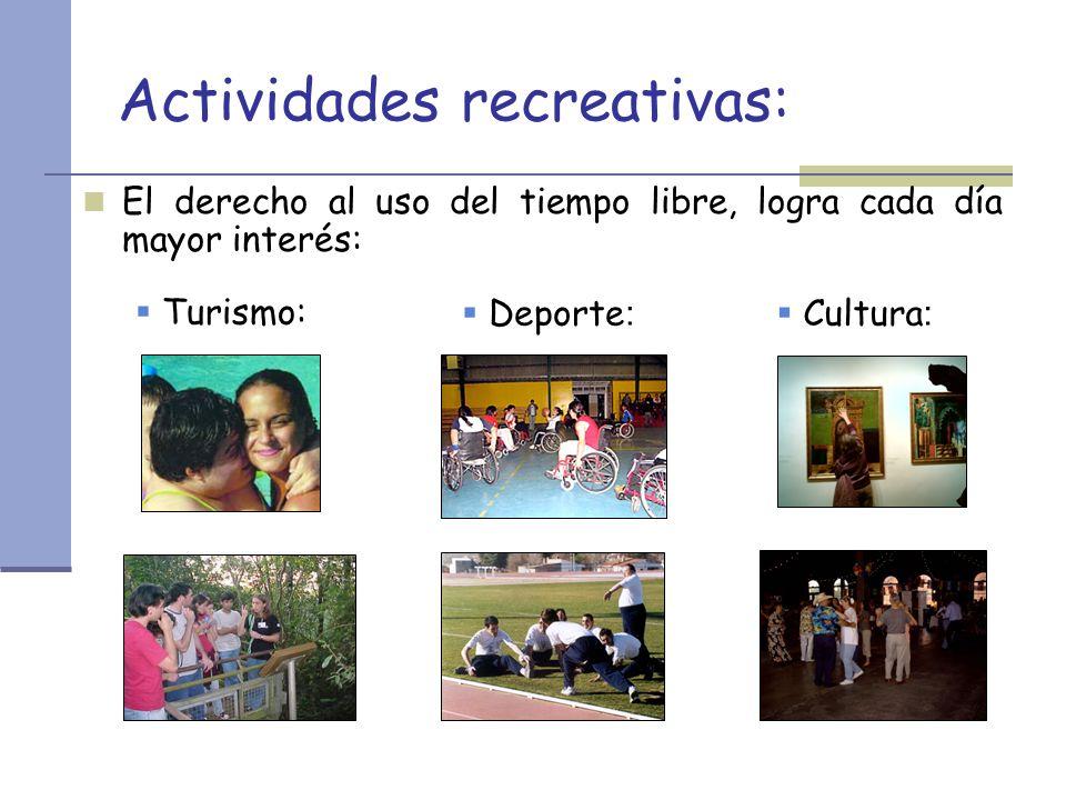 Actividades recreativas: El derecho al uso del tiempo libre, logra cada día mayor interés: Turismo: Deporte : Cultura :