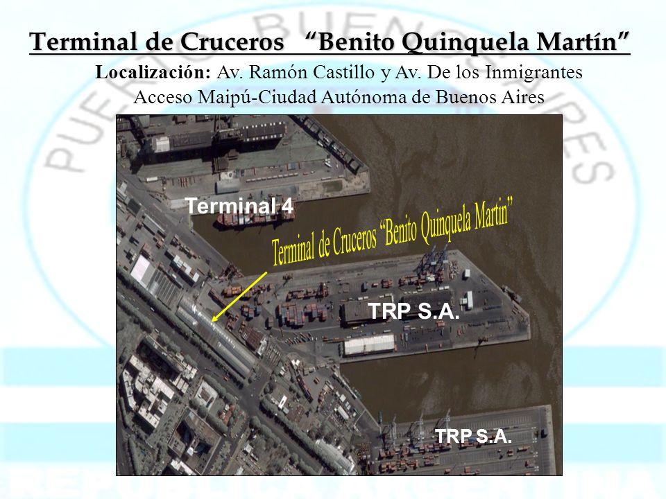 Terminal de Cruceros Benito Quinquela Martín Localización: Av. Ramón Castillo y Av. De los Inmigrantes Acceso Maipú-Ciudad Autónoma de Buenos Aires Te