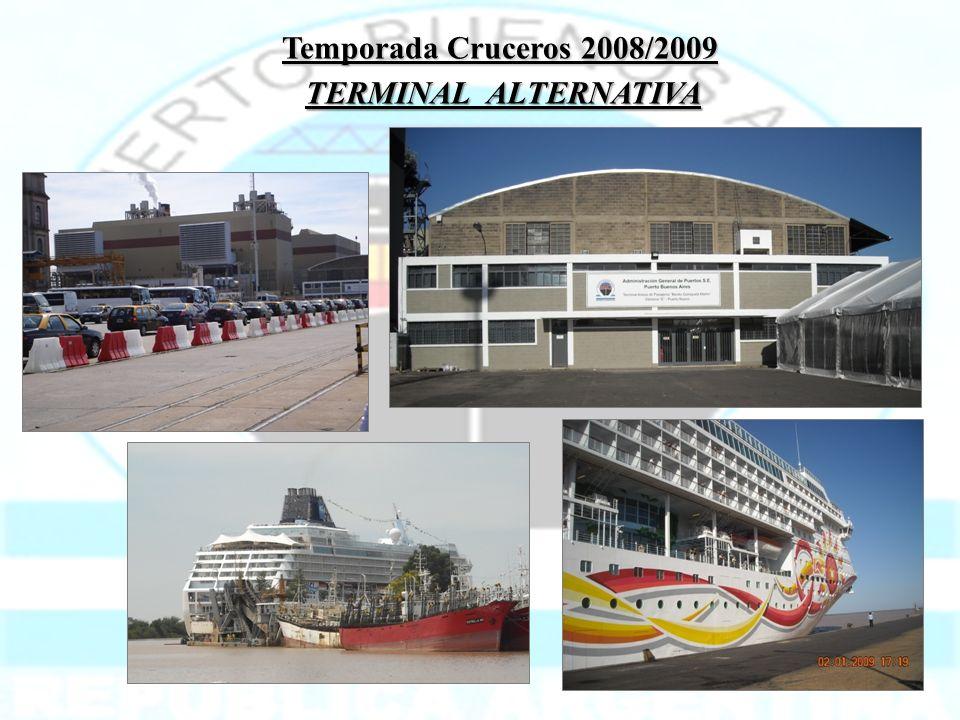 Temporada Cruceros 2008/2009 TERMINAL ALTERNATIVA