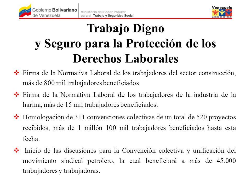 Firma de la Normativa Laboral de los trabajadores del sector construcción, más de 800 mil trabajadores beneficiados Firma de la Normativa Laboral de l