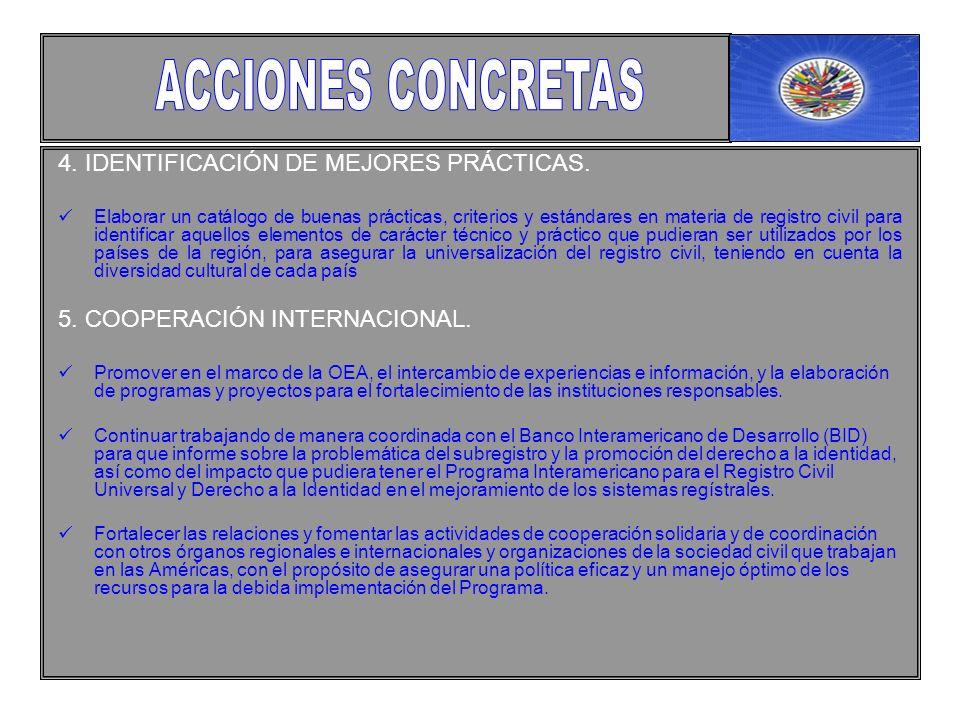 4. IDENTIFICACIÓN DE MEJORES PRÁCTICAS.