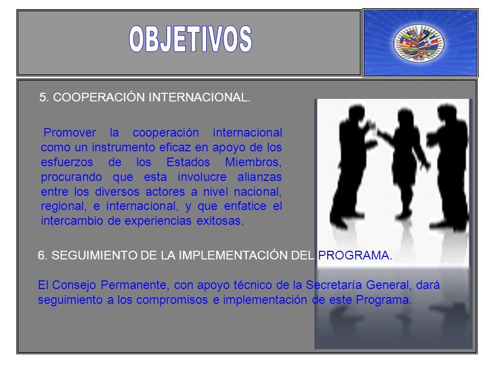 5. COOPERACIÓN INTERNACIONAL.
