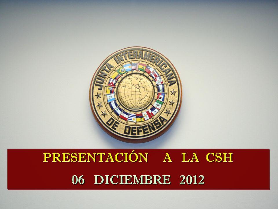 PRESENTACIÓN A LA CSH 06 DICIEMBRE 2012 PRESENTACIÓN A LA CSH 06 DICIEMBRE 2012