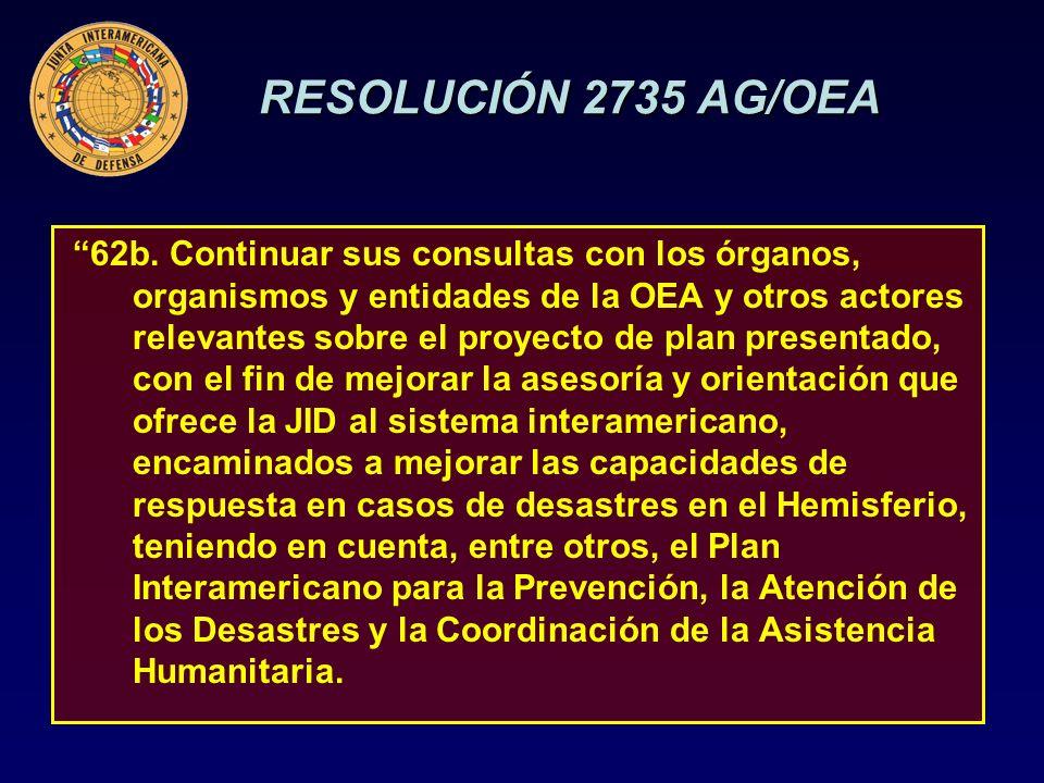 RESOLUCIÓN 2735 AG/OEA 62b.