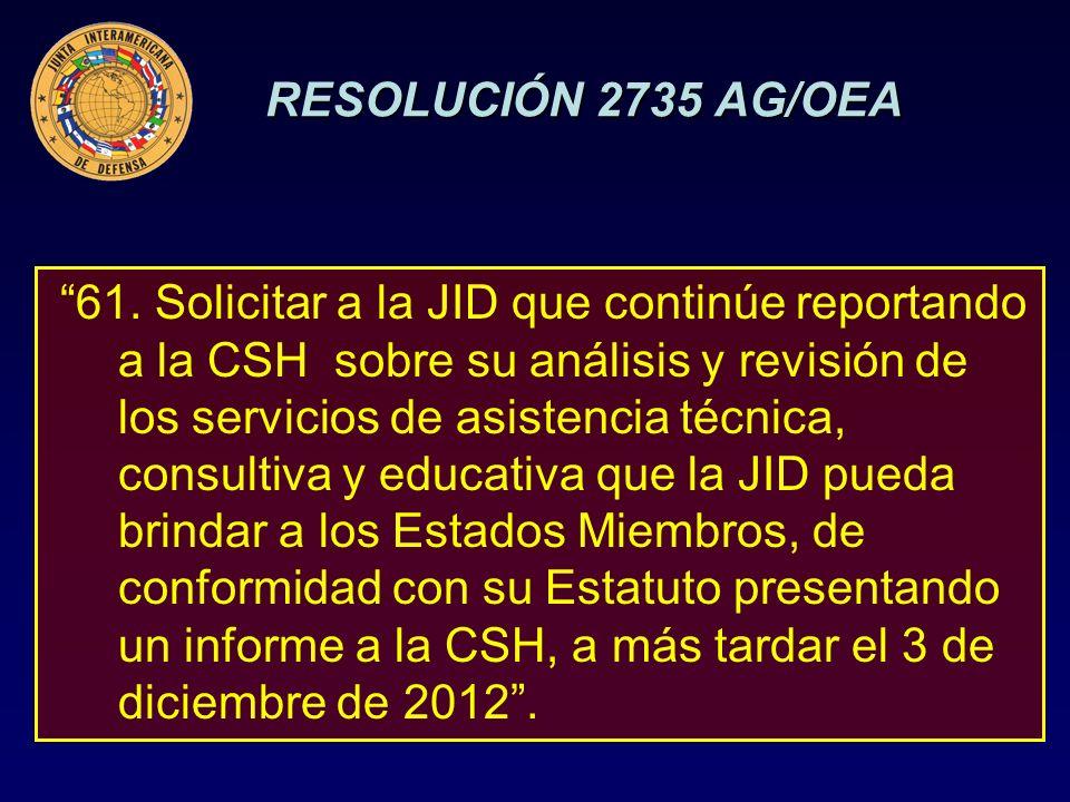 RESOLUCIÓN 2735 AG/OEA 61.