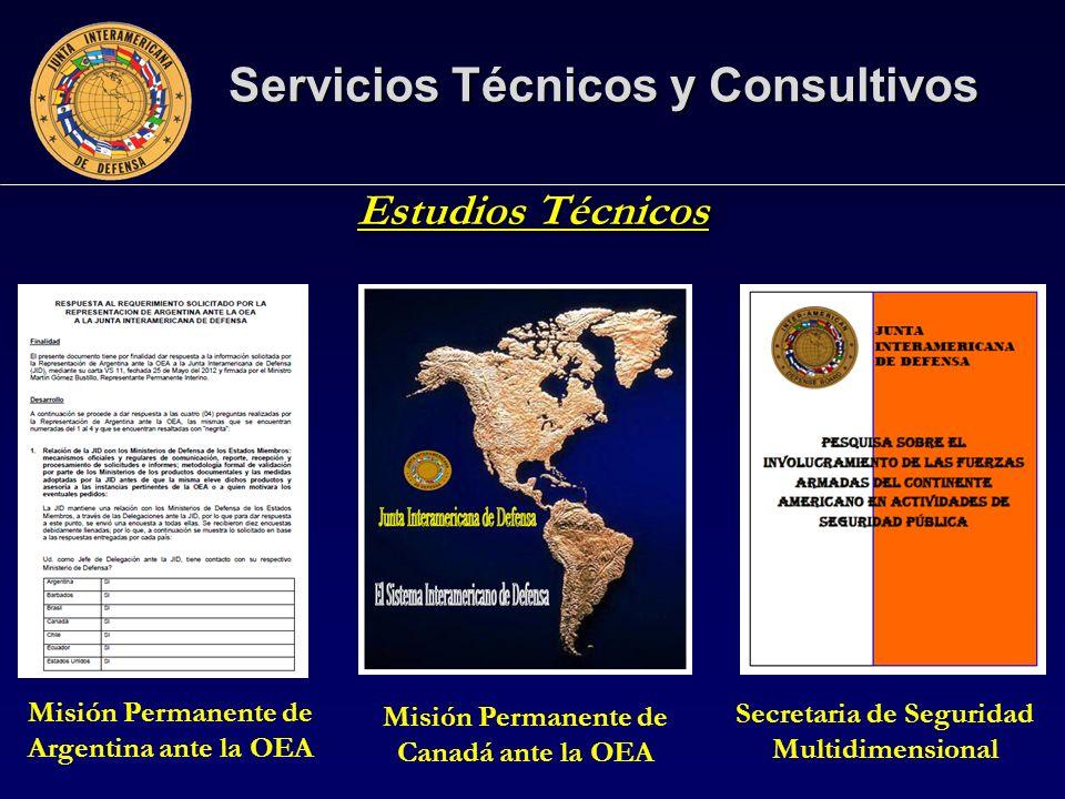 Servicios Técnicos y Consultivos Estudios Técnicos Misión Permanente de Canadá ante la OEA Misión Permanente de Argentina ante la OEA Secretaria de Seguridad Multidimensional