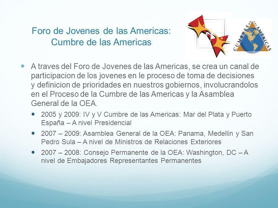 Video de la Presentación de Jóvenes en la Asamblea General de la OEA: Participacion de los jovenes en la V Cumbre de las Americas: