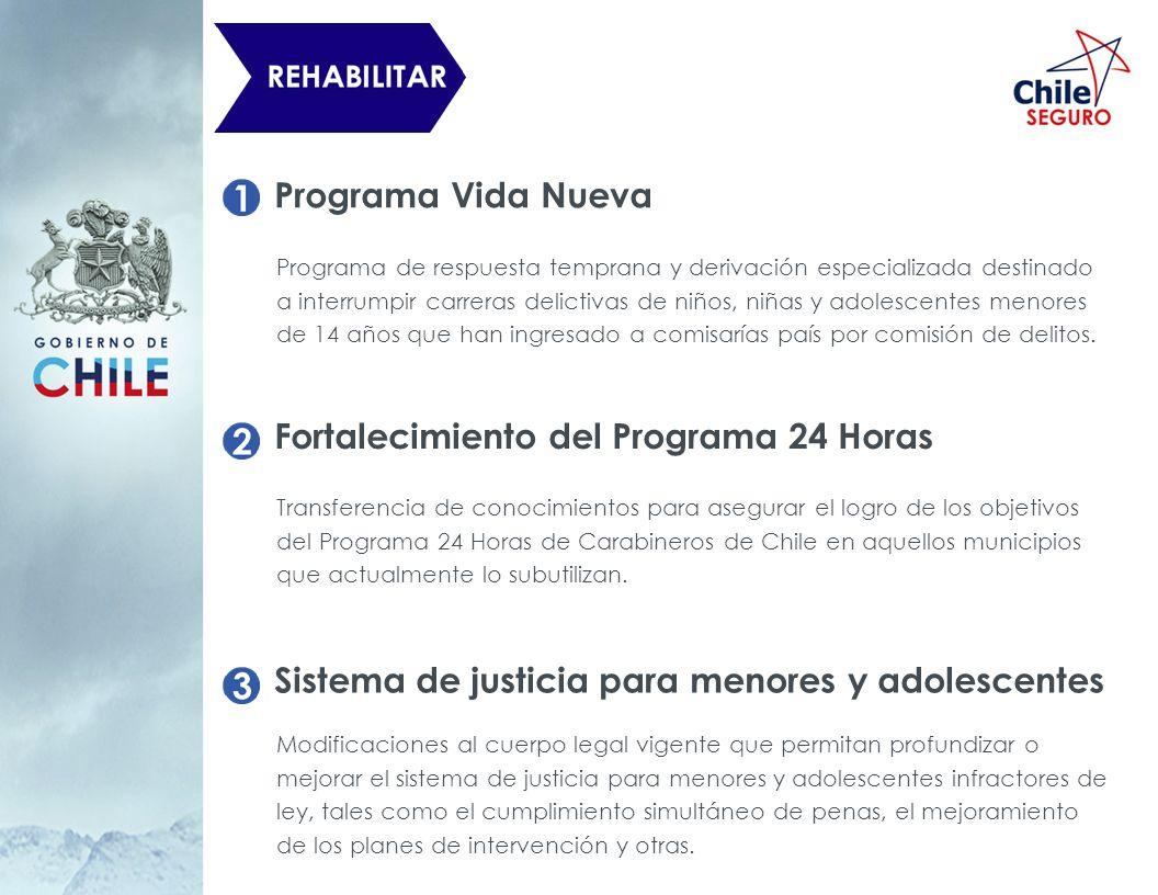 Programa Vida Nueva Programa de respuesta temprana y derivación especializada destinado a interrumpir carreras delictivas de niños, niñas y adolescent