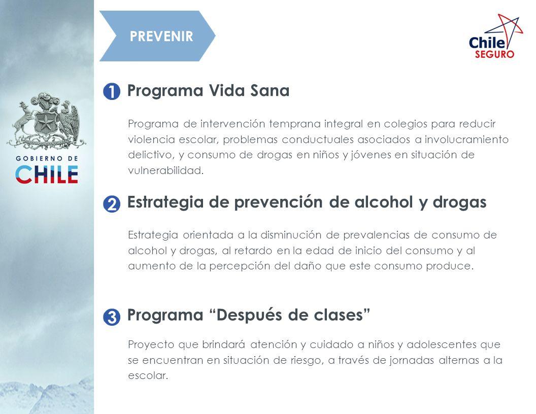 Programa Vida Sana Programa de intervención temprana integral en colegios para reducir violencia escolar, problemas conductuales asociados a involucra
