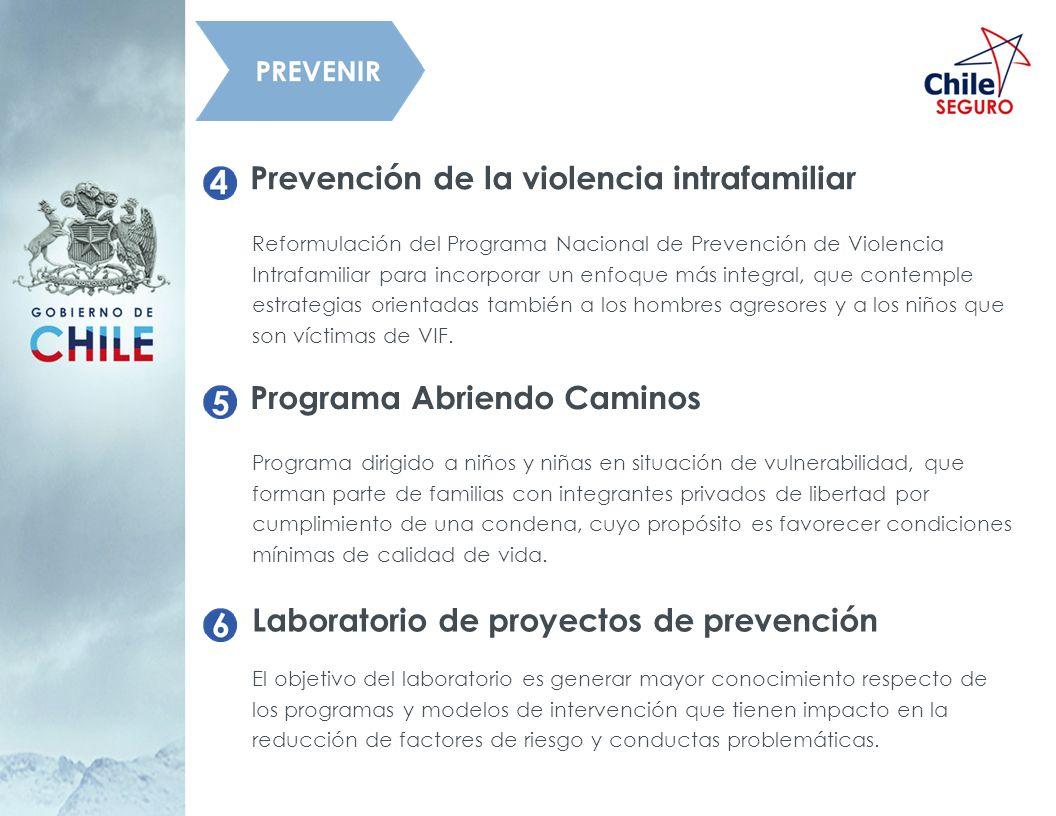 Prevención de la violencia intrafamiliar Reformulación del Programa Nacional de Prevención de Violencia Intrafamiliar para incorporar un enfoque más i